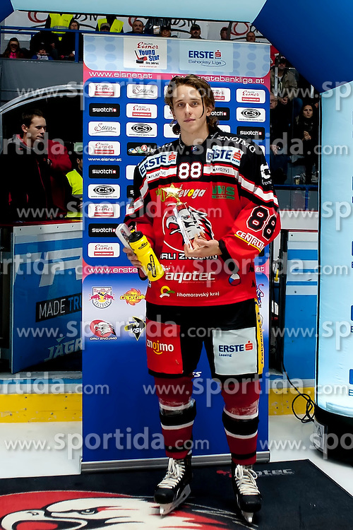 11.10.2015, Ice Rink, Znojmo, CZE, EBEL, HC Orli Znojmo vs UPC Vienna Capitals, 10. Runde, im Bild Libor Sulak (HC Orli Znojmo) // during the Erste Bank Icehockey League 10th round match between HC Orli Znojmo and UPC Vienna Capitals at the Ice Rink in Znojmo, Czech Republic on 2015/10/11. EXPA Pictures © 2015, PhotoCredit: EXPA/ Rostislav Pfeffer