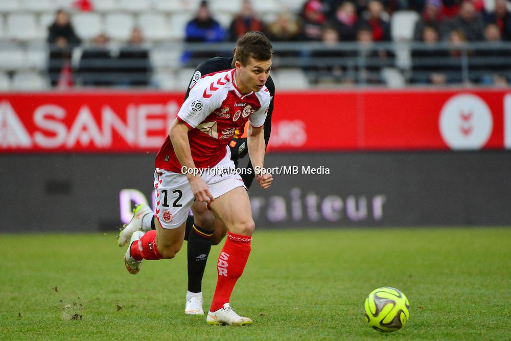Nicolas DE PREVILLE - 25.01.2015 - Reims / Lens  - 22eme journee de Ligue1<br />Photo : Dave Winter / Icon Sport