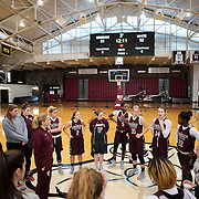 December 16, 2016 - New York, NY :  Fordham University Women's Basketball senior forward Danielle Padovano (14) addresses the team as coach Stephanie Gaitley, center left, brings them in for a meeting at the conclusion of practice in Rose Hill Gymnasium on Friday afternoon. CREDIT: Karsten Moran for The New York Times