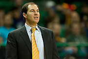 WACO, TX - JANUARY 3: Baylor Bears head coach Scott Drew looks on against the Savannah State Tigers on January 3, 2014 at the Ferrell Center in Waco, Texas.  (Photo by Cooper Neill) *** Local Caption *** Scott Drew