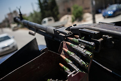 Syria<br /> Bullets from an anti-aircraft on top of a van in Jabal Al Zawiya, Idlib, Syria<br /> Friday, 21st June 2013<br /> Picture by Daniel Leal-Olivas / i-Images