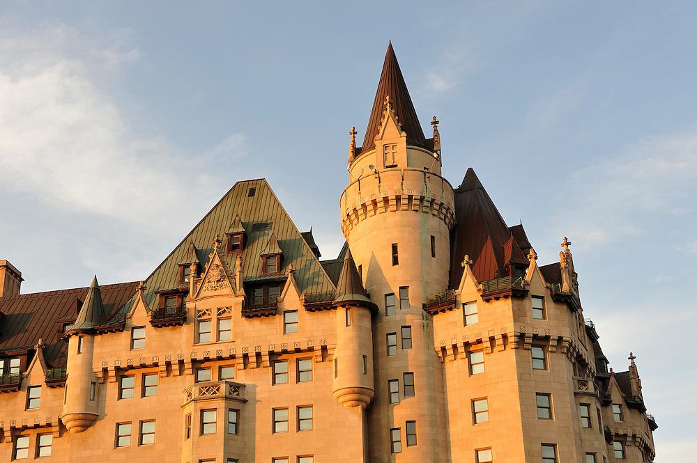 Chateau Fairmont, Rideau Canal,Ottawa, Ontario, Canada,