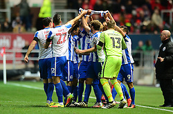 Steve Sidwell of Brighton & Hove Albion celebrates his goal with team mates  - Mandatory by-line: Dougie Allward/JMP - 05/11/2016 - FOOTBALL - Ashton Gate - Bristol, England - Bristol City v Brighton and Hove Albion - Sky Bet Championship