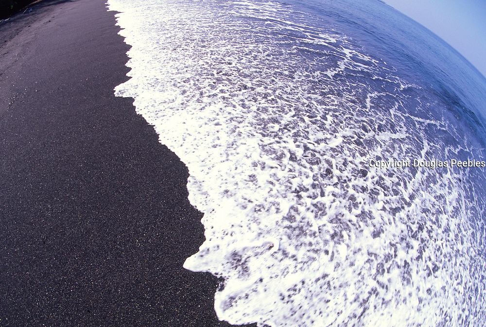 Black sand beach, Island of Hawaii<br />