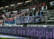 FODBOLD: Fans fra FC Helsingør før kampen i ALKA Superligaen mellem FC Midtjylland og FC Helsingør den 3. november 2017 på MCH Arena i Herning. Foto: Claus Birch