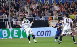 03-03-2007 VOETBAL: SEVILLA FC - BARCELONA: SEVILLA  <br /> Sevilla wint de topper met Barcelona met 2-1 / Ivica Dragutinovic<br /> ©2006-WWW.FOTOHOOGENDOORN.NL