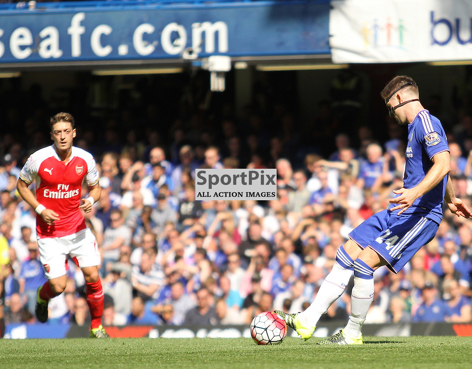 Chelsea Gary Cahill in action against Arsenal