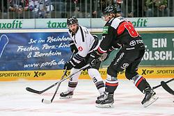 19.12.2014, Lanxess Arena, Koeln, GER, DEL, Koelner Haie vs Nuernberg Ice Tigers, 28. Runde, im Bild v.l. Jason Jaspers (Nuernberg Ice Tigers), Torsten Ankert (Koelner Haie) // during Germans DEL Icehockey League 28th round match between Koelner Haie vs Nuernberg Ice Tigers at the Lanxess Arena in Koeln, Germany on 2014/12/19. EXPA Pictures © 2014, PhotoCredit: EXPA/ Eibner-Pressefoto/ Kohring<br /> <br /> *****ATTENTION - OUT of GER*****