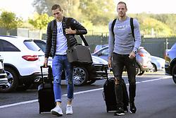 October 9, 2018 - Brussels, Belgium - Hans Vanaken midfielder of Belgium and Matz Sels goalkeeper of Belgium (Credit Image: © Panoramic via ZUMA Press)