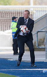 Falkirk's manager Gary Holt.<br /> Falkirk 2 v 1 Raith Rovers, Scottish Championship game played today at The Falkirk Stadium.<br /> &copy; Michael Schofield.