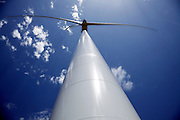 upwards view of a electric energy wind mill Andalusia Spain