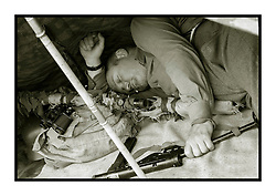 Hull Veterans Weekend Les has a cheeky nap on Sunday until MOPs give him away asking questions like &quot;is he dead&quot; <br /> Wallace the anti sleep hound soon put paid to that cat nap.. <br /> <br /> 25-26 July 2015<br />  Image &copy; Paul David Drabble <br />  www.pauldaviddrabble.co.uk