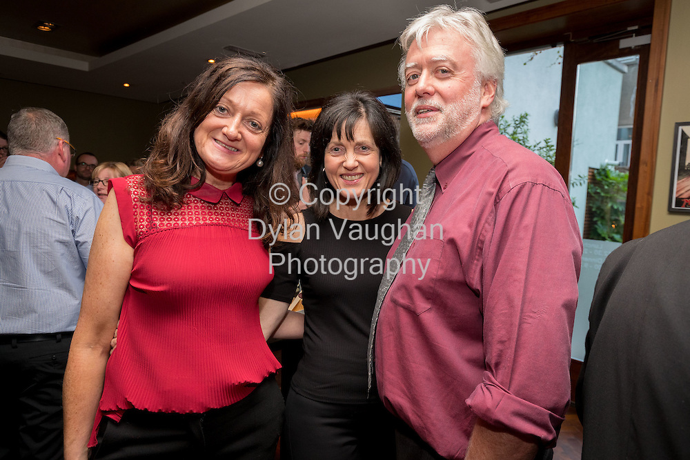 Repro Free No Charge for Repro<br /> <br /> 29-9-16<br /> <br /> Pembroke Kilkenny Reveals Rebrand and Officially Launches Statham&rsquo;s Bar &amp; Restaurant <br /> <br /> Hotel brings home the famous &lsquo;Statham&rsquo;s Ford Special&rsquo; to mark launch &ndash; <br /> Pembroke Kilkenny has invested &euro;750,000 in two years in new direction aligned to the hotel&rsquo;s heritage <br /> <br /> Pembroke Kilkenny, a leading Boutique hotel, has today   officially     launched Statham&rsquo;s Bar &amp; Restaurant and revealed its new brand direction. The hotel has rebranded (from the Pembroke Hotel) to Pembroke Kilkenny, focusing on delivering a unique Kilkenny experience for patrons, which will reach 50,000 this year, up 13% year on year.<br /> The Pembroke is built on the site of Statham's which was the leading car dealership in the South East for most of the 20th Century and the relaunched Statham&rsquo;s Bar &amp; Restaurant recognises the significant heritage of the site. To celebrate the launch, the hotel has brought home the famous &lsquo;Statham&rsquo;s Ford Special&rsquo;, which was built onsite by George Statham and raced from the garage, competing with top international teams in the grand prix in the 1930s. Powered by a Ford V-8 engine it had notable success at the 1934 Phoenix Park Senior Race and the 1935 Limerick Grand Prix. The vintage car will be permanently exhibited in the Pembroke Kilkenny foyer, with its story told and reflected in the theming of the relaunched bar and restaurant.<br /> <br /> Pictured at the launch are Anne Teehan, Kilkenny Castle, Betty Teehan, Tipperary Association and Vincent Kenrick, Tipperary Association.  <br />  <br /> Picture Dylan Vaughan.