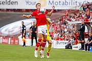 Barnsley midfielder Brad Potts (20) brings the ball under control during the EFL Sky Bet League 1 match between Barnsley and AFC Wimbledon at Oakwell, Barnsley, England on 18 August 2018.