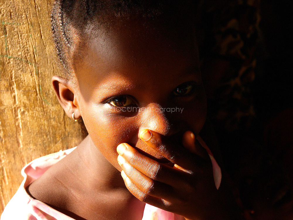 A young girl at J.S. Varfley School, Kingsville #7, Liberia.