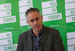 © Licensed to London News Pictures. 08/05/2019. London, UK.  Co-leader, Jonathan Bartley at the Green Party European election campaign launch, held at the Candid Arts Trust.  Photo credit: Vickie Flores/LNP