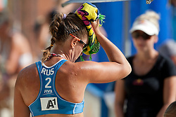 Anna Vozakova of Russia at A1 Beach Volleyball Grand Slam presented by ERGO tournament of Swatch FIVB World Tour 2012, on July 17, 2012 in Klagenfurt, Austria. (Photo by Matic Klansek Velej / Sportida)