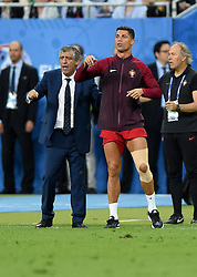 Cristiano Ronaldo of Portugal and Portugal Manager Fernando Santos give instructions from the side of the pitch  - Mandatory by-line: Joe Meredith/JMP - 10/07/2016 - FOOTBALL - Stade de France - Saint-Denis, France - Portugal v France - UEFA European Championship Final