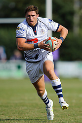 Bristol Outside Centre (#13) Luke Eves in action - Photo mandatory by-line: Rogan Thomson/JMP - Tel: Mobile: 07966 386802 01/09/2013 - SPORT - RUGBY UNION - Station Road, Cribbs Causeway, Bristol - Clifton RFC v Bristol Rugby - Pre Season Friendly.