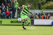 Forest Green Rovers Aarran Racine(21) passes the ball during the Vanarama National League match between Forest Green Rovers and Barrow at the New Lawn, Forest Green, United Kingdom on 1 October 2016. Photo by Shane Healey.