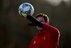 CARDIFF, WALES - Wednesday, November 14, 2018: Wales' goalkeeper Daniel Ward during a training session at the Vale Resort ahead of the UEFA Nations League Group Stage League B Group 4 match between Wales and Denmark. (Pic by David Rawcliffe/Propaganda)