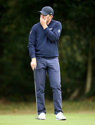 Eddie Pepperell reacts during day two of the British Masters at Walton Heath Golf Club, Surrey.