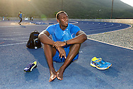 Usain Bolt at track in Kingston Jamaica March'11