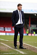 Grimsby Town Manager Michael Jolley during the EFL Sky Bet League 2 match between Grimsby Town FC and Port Vale at Blundell Park, Grimsby, United Kingdom on 10 March 2018. Picture by Mick Atkins.