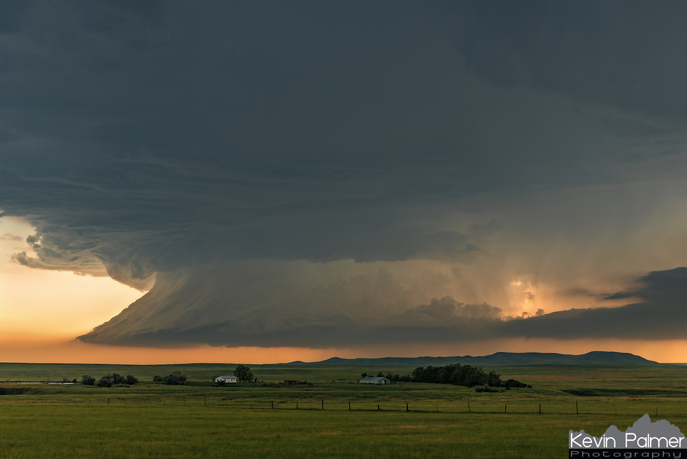 Outside of Ekalaka, Montana, the structure on this mothership supercell was incredible. At times it looked like a giant tsunami in the sky. This storm would go on to produce at least 8 tornadoes.