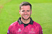 Head shot of Steve Davies in the Royal London One-Day Cup kit during the 2019 media day at Somerset County Cricket Club at the Cooper Associates County Ground, Taunton, United Kingdom on 2 April 2019