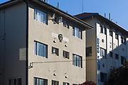 Sydney, Australia. Saturday 25th April 2020. An apartment building opposite bronte beach in Sydney's eastern suburbs, named Corona. Credit Paul Lovelace/Alamy Live News