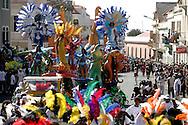 Carnival Parade in Lisboa Street in Mindelo, the capital city od Sao Vicente island.