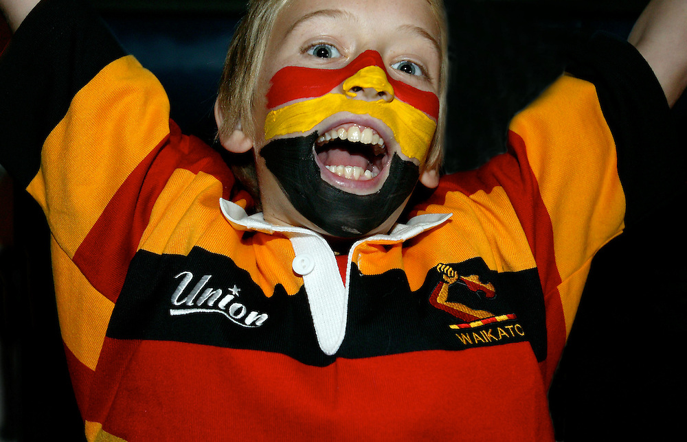 Young Waikato rugby fan Sam Milne in action for his team at Hamilton, New Zealand, June 26, 2006. Credit:SNPA / Rob Tucker