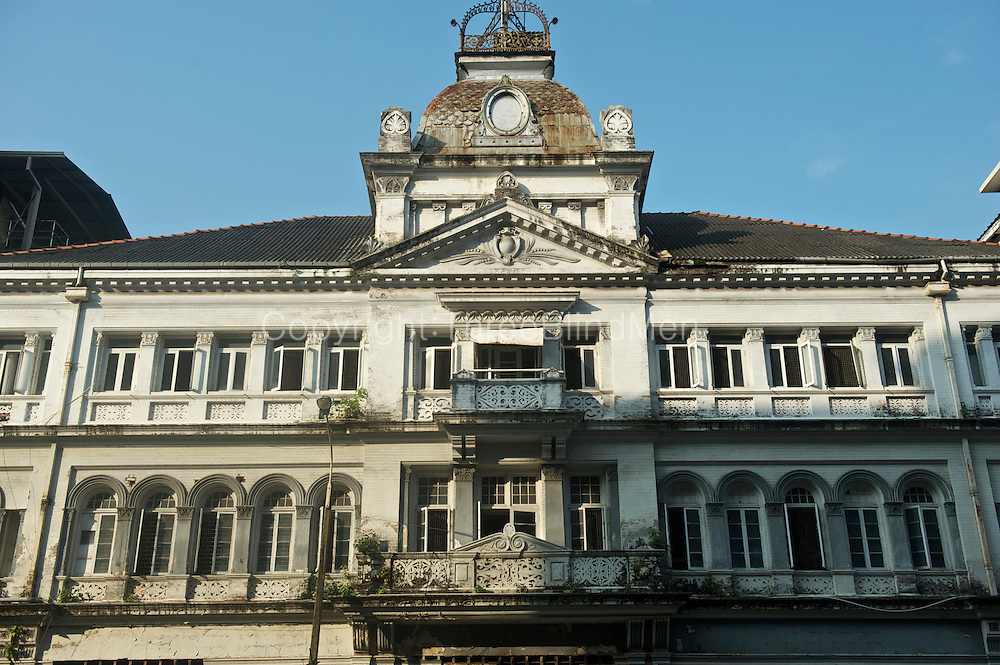 Facade of an old building in the Fort, Colombo city.