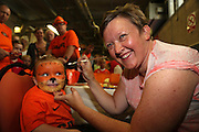 Three year old Jade Flight gets her face painted - Dundee United open day at Tannadice<br /> <br />  - Pictures © David Young