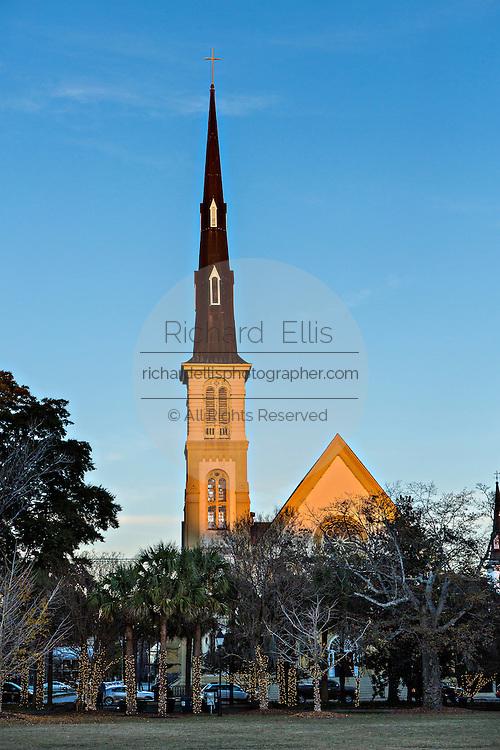 Citadel Square Baptist Church on Marion Square in Charleston, South Carolina.
