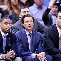 09 December 2015: Utah Jazz head coach Quin Snyder is seen next to Utah Jazz assistant coaches Alex Jensen and Johnnie Bryant  during the Utah Jazz 106-85 victory over the New York Knicks, at the Vivint Smart Home Arena, Salt Lake City, Utah, USA.