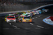 September 28-30, 2018. Charlotte Motorspeedway, ROVAL400: Restart 21 Paul Menard, Motorcraft/QuickLane, Ford, Wood Brothers Racing, 17 Ricky Stenhouse Jr. SunnyD, Ford, Roush Fenway Racing