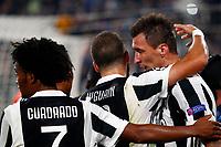 18.10.2017 - Torino - Champions League   -  Juventus-Sporting Lisbona nella  foto: Mario Mandzukic esulta dopo il gol