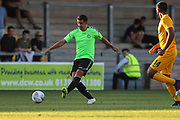 Forest Green Rovers Lloyd James(4) passes the ball during the Pre-Season Friendly match between Torquay United and Forest Green Rovers at Plainmoor, Torquay, England on 10 July 2018. Picture by Shane Healey.
