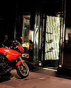 09.JUNE.2011. LONDON<br /> <br /> LONDON'S SMASH AND GRABBERS STRIKE AGAIN, THIS TIME ON POSH BOUTIQUE ANYA HINDMARCH. THE GANG SMASHED THE GLASS DOORS IN BEFORE MAKING OFF WITH SEVERAL ITEMS LEAVING A STOLEN MOTORCYCLE BEHIND. NO ARREST WERE MADE.<br /> <br /> BYLINE: EDBIMAGEARCHIVE.COM<br /> <br /> *THIS IMAGE IS STRICTLY FOR UK NEWSPAPERS AND MAGAZINES ONLY*<br /> *FOR WORLD WIDE SALES AND WEB USE PLEASE CONTACT EDBIMAGEARCHIVE - 0208 954 5968*