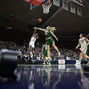 STORRS, CONNECTICUT- NOVEMBER 17: Crystal Dangerfield #5 of the UConn Huskies shoots for two points over Lauren Cox #15 of the Baylor Bears during the UConn Huskies Vs Baylor Bears NCAA Women's Basketball game at Gampel Pavilion, on November 17th, 2016 in Storrs, Connecticut. (Photo by Tim Clayton/Corbis via Getty Images)