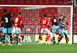 Brad Beatson of Sheffield Wednesday U21 scores against Bristol City - Mandatory by-line: Paul Knight/JMP - Mobile: 07966 386802 - 12/10/2015 -  FOOTBALL - Ashton Gate Stadium - Bristol, England -  Bristol City U21 v Sheffield Wednesday U21 - Professional Development League