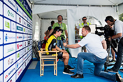 Winner Primoz Roglic of Team Lotto NL Jumbo before trophy ceremony after the 5th Time Trial Stage of 25th Tour de Slovenie 2018 cycling race between Trebnje and Novo mesto (25,5 km), on June 17, 2018 in  Slovenia. Photo by Vid Ponikvar / Sportida