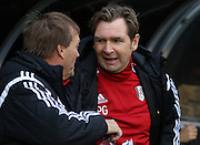 Fulham Head Coach Peter Grant during the Sky Bet Championship match between Fulham and Preston North End at Craven Cottage, London, England on 28 November 2015. Photo by Pete Burns.