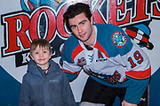 KELOWNA, CANADA - FEBRUARY 20:  Home Hardware Stick Boy with Dillon Dube #19 of the Kelowna Rockets at the Kelowna Rockets game on February 20, 2018 at Prospera Place in Kelowna, British Columbia, Canada.  (Photo By Cindy Rogers/Nyasa Photography,  *** Local Caption ***