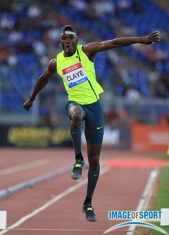 Jun 4, 2014, Rome, ITALY; Will Claye (USA) wins the triple jump at 56-2 3/4 (17.14m) in the 34th Golden Gala Pietro Menena at Stadio Olimpico. Photo by Jean-Pierre Durand