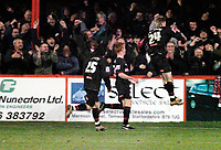 Photo: Leigh Quinnell.<br /> Tamworth v Stoke City. The FA Cup. 17/01/2006. Paul Gallagher celebrates his goal for Stoke to bring the scores level.