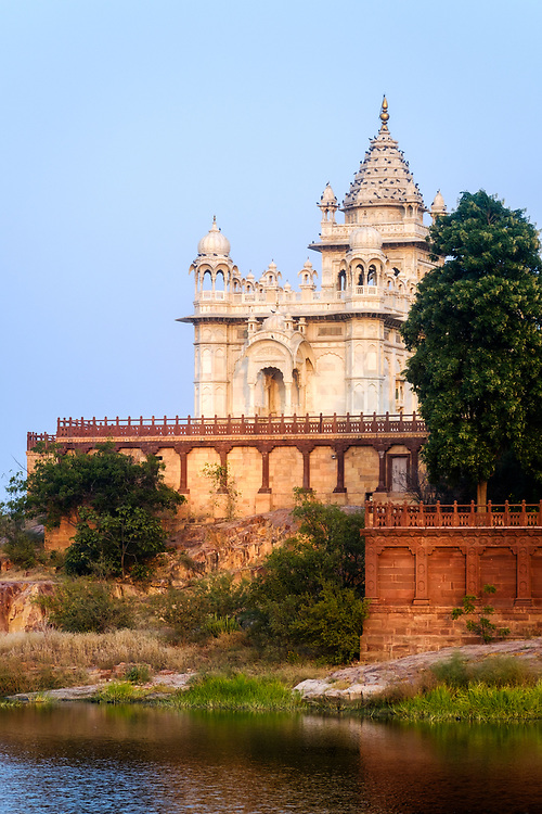 JODHPUR, INDIA - CIRCA NOVEMBER 2016:  Jaswant Thada Memorial in Jodhpur