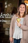 Ashley Archibald, co-owner of Archie's Ice Cream in Dayton, Oregon.